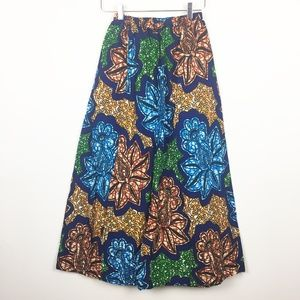 Vintage | Brightly Colored Printed African Maxi